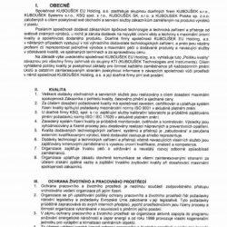 Certifikace - politika kvality