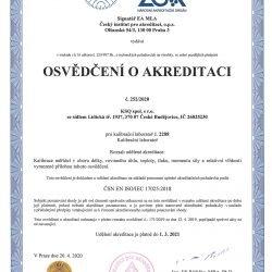 KSQ - Osvědčení o akreditaci 2020